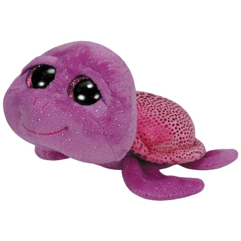 Knuffel Ty Beanie zeeschildpad Slowpoke paars 15 cm knuffels kopen
