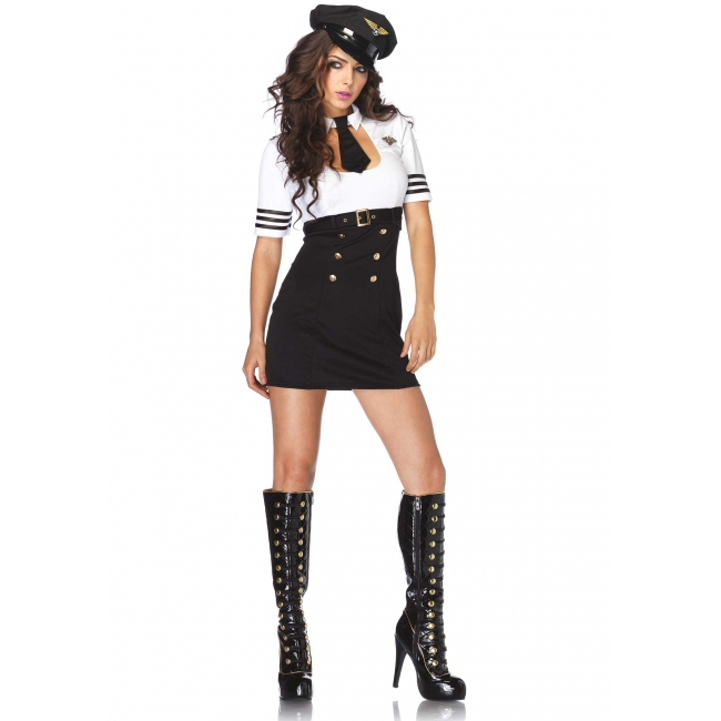 Luxe dames stewardess kostuum
