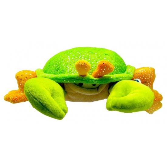 Pluche krabbetje groen/oranje 23 cm