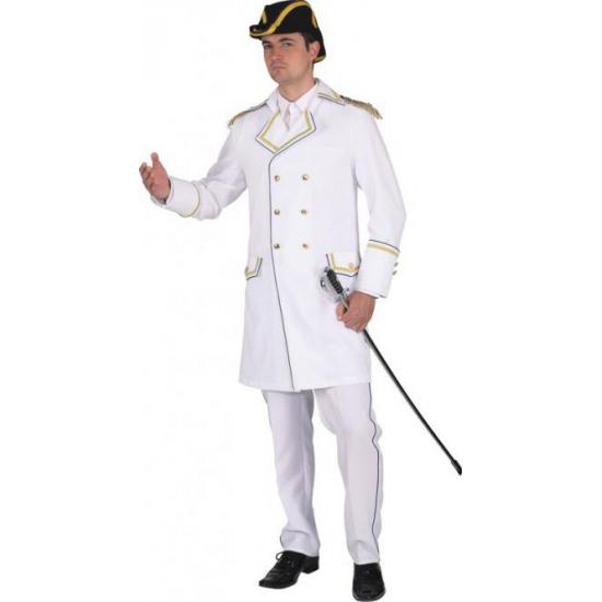 Witte verkleed jas voor heren